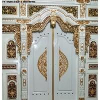 pintu rumah gebyok modern baha kayu jati cat duco ukuran 500 x 270