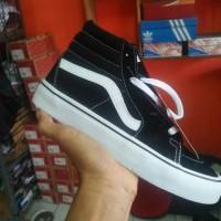 sepatu vans old school tinggi hitam putih import china 39-43