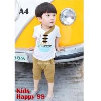Kaos Cheongsam Setelan Celana Pendek Laki-laki Baju Anak Cowo Branded