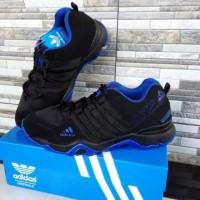 Sepatu Adidas AX2 Hitam List Biru Harga Distributor Paling Murah!!!