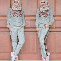 hm St Trainning Gucci blouse celana setelan pakaian muslim wanita baju