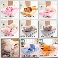 Balmut Gajah Pink 40cm Boneka Bare Bear Boneka Stitch Boneka Gajah