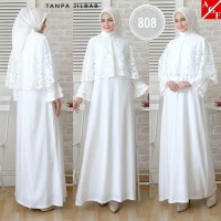 Baju Muslim Putih / Gamis Haji / Gamis Umroh wanita / Baju Haji Wanita
