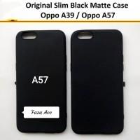 Slim Black Matte Oppo A57 - Case Blackmatte Blackmate mate met