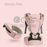 Gendongan Bayi Baby Hipseat Hip Seat Carrier Disney Mickey Cyan & Pink