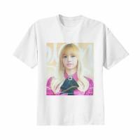 Kaos Baju Tshirt Kpop Korea Anak Blackpink Lisa Combed 20s Putih