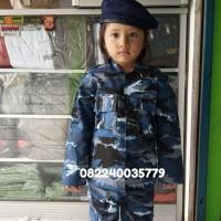 baju PDL loreng TNI AU anak