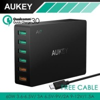 AUKEY CHARGER 6 USB PORT QUICK CHARGE 3 0 SMART CHARGER STATION PA T