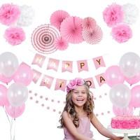 Balonasia Paket Dekorasi Ulangtahun Anak Pink / Biru