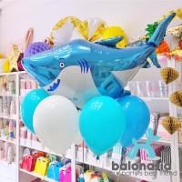 Balonasia Balon Foil Karakter Laut Shark Jumbo