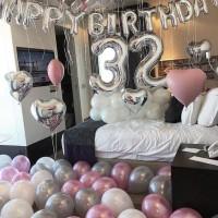 Balonasia Paket Surprise Kamar Silver Pink / Biru