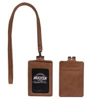 ID Card Holder Temboro Kalung Premium ID Badge Leather Clip Gantungan