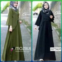 long dress baju muslim wanita jumbo pengajian maxi blouse gamis army