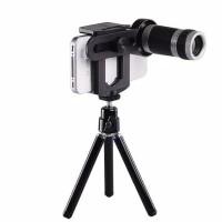 Lensa Tele Telezoom 8X Bonus mini Tripod untuk HP Smartphone