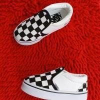 Sepatu Vans Slip On Slop Checkerboard Catur BW For Kids/Anak Grade Ori
