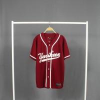 Baju baseball - JERSEY BASEBALL Pria Wanita yankees merah