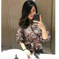 blouse kimono/baju batik/atasan kerja/kantor/baju kuliah/blus remaja