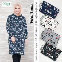 Baju Atasan Wanita Muslim Blouse Fila Tunik Ellyn