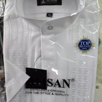 baju koko alisan putih lengan pendek reguler fit.