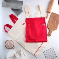 UCHII Cotton Cooking Apron | Celemek Masak Kain Dewasa All Size Pocket