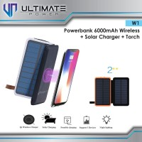 Ultimate Power W1 Powerbank Solar + Wireless Charging + LED Torch 6000