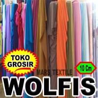 PREMIUM - 10 Cm Kain Bahan Wolfis / Wolvis / Wolpeach / Wolpis Meteran
