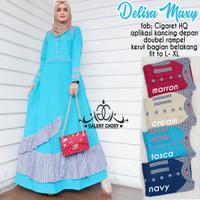 Delisa maxy dress gamus baju muslim cantik