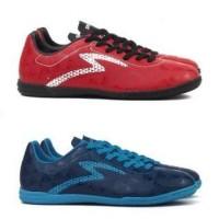 JF Ols Sepatu Futsal Specs Quark IN - Chestnut Red / Galaxy Blue Origi