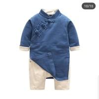 baju bayi jumper cheongsam blue imlek sincia for baby