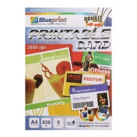 Blueprint Kertas PVC ID Card Instant Size A4 Isi 5 Lembar