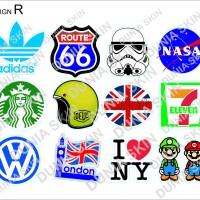 Travel Label / Sticker Koper Rimowa Design R - Mixed Famous Brand
