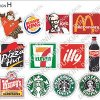Travel Label / Sticker Koper Rimowa Design H Famous Food Logo