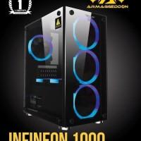 Armageddon Infineon 1000   Free 3 Fan   Casing Case Pc