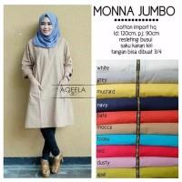 Baju Atasan Blouse Tunik Wanita Baju Muslim Blus Monna Jumbo Blouse