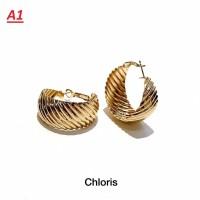 Aksesoris Wanita Anting Gold Ring Bulat