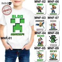 Kaos / Baju Mine Craft- Free Cetak Nama
