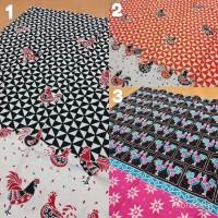 kain batik printing motif ayam bahan katun