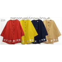 Blouse Super Jumbo Blusbor 5XL Baju Atasan Wanita Bigsize Bordir