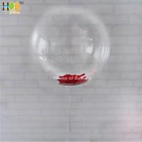 Balon PVC Membrane Plastik Clear Transparan BOBO untuk LED 18 Inch