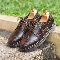 sepatu low boots pria azcost longwing burgundy