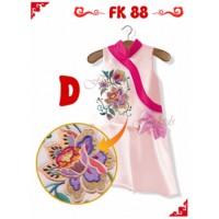 Dress Cheongsam Anak Cewek PINK Modern Flower Listed Import
