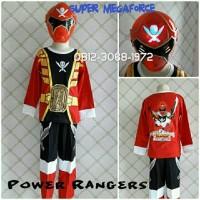 Baju Kostum Anak Superhero Power Rangers SUPER MEGAFORCE 8-11 Tahun