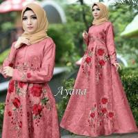 Maxi Dress Muslim Ayana Umbrella Syari Balotelli HQ - Dusty