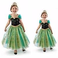 Princess Anna Elsa Frozen Dress Costume | Baju Kostum Putri Anak 3
