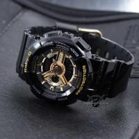 Jam Tangan Casio Baby-G BA-110-1A Black Gold Glossy BABYG BA110 Ori BM