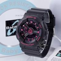 Jam Tangan Baby-G BA-111-1A Black Pink BABYG BA110 Series ORI BM