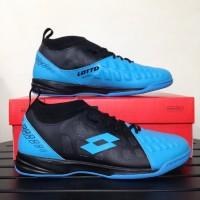 Sepatu Futsal Lotto Energia IN Ocean Blue Black Original
