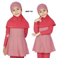 Baju Renang Anak Muslim Muslimah Ukuran 10 dan 11 Tahun Sulbi SBAP 193