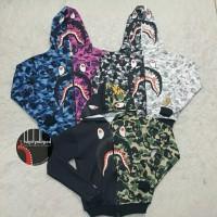 jaket hoodie bape army shark dewasa dan anak