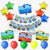 Balonasia Paket Dekorasi Tema Tayo The Bus